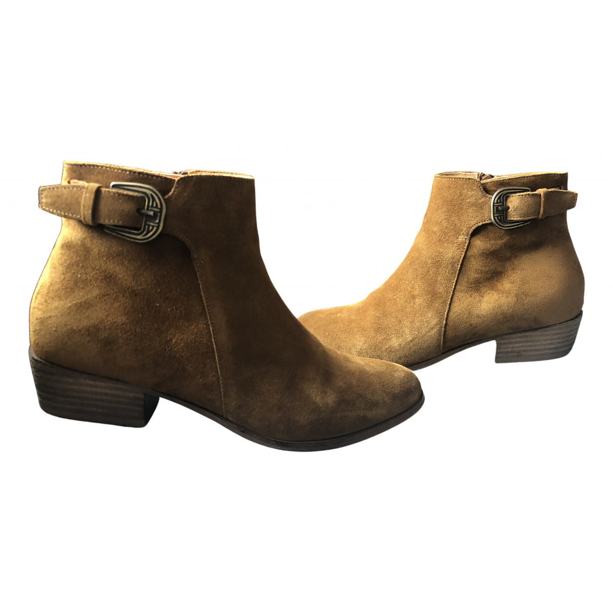 Ba&sh N Brown Suede Ankle boots for Women 37 EU