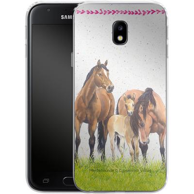 Samsung Galaxy J3 (2017) Silikon Handyhuelle - Pferdefreunde Familie von Pferdefreunde