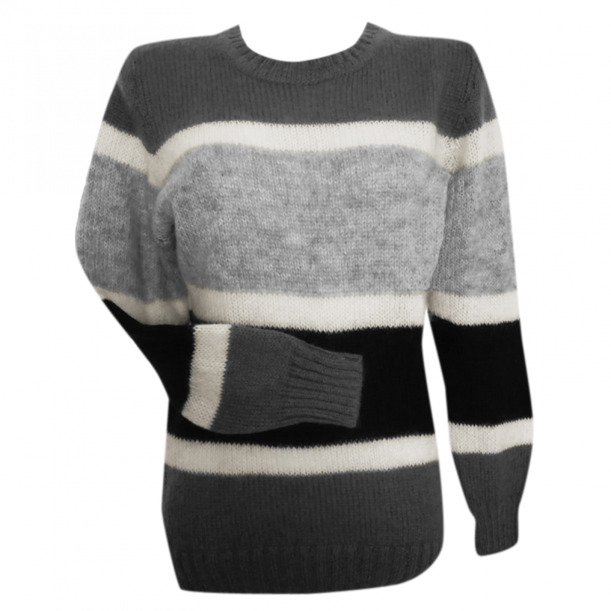 Ainea \N Grey Wool Knitwear for Women 44 IT