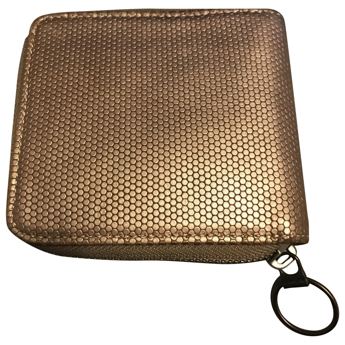 Lanvin \N Portemonnaie in  Metallic Leder
