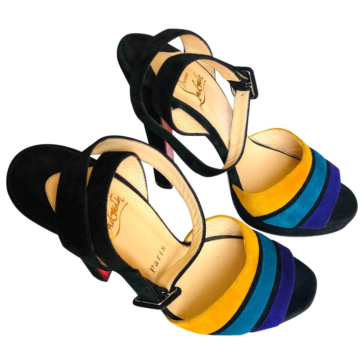 Christian Louboutin - Sandales   pour femme en suede - multicolore