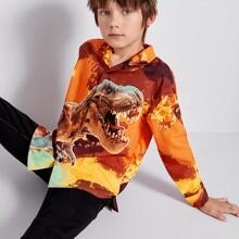 Hemd mit Dinosaurier Muster