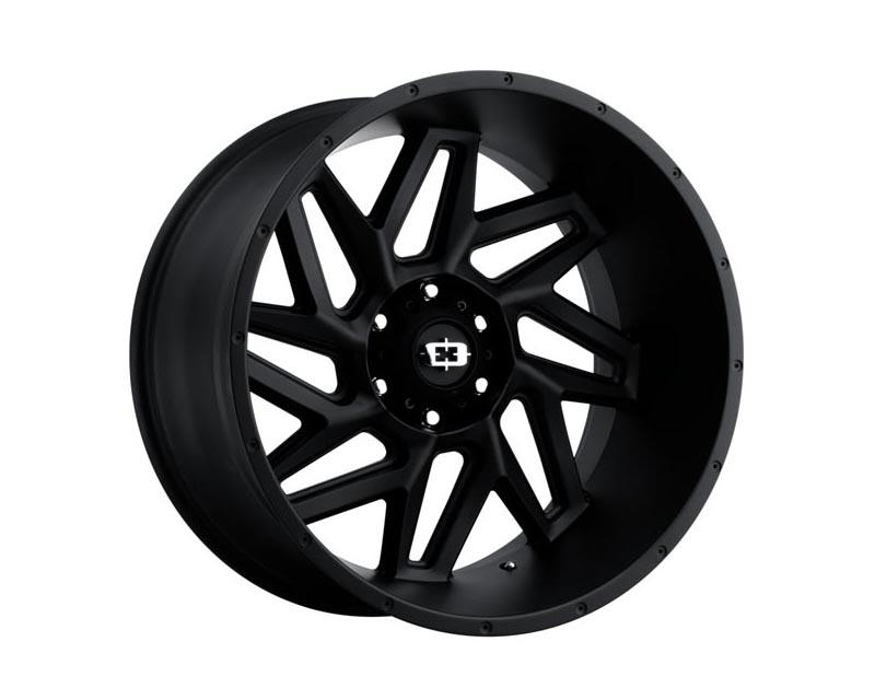 Vision Wheels 361-2950SB12 Spyder Wheel 20x9 5x1500 12 BKMTXX Satin Black