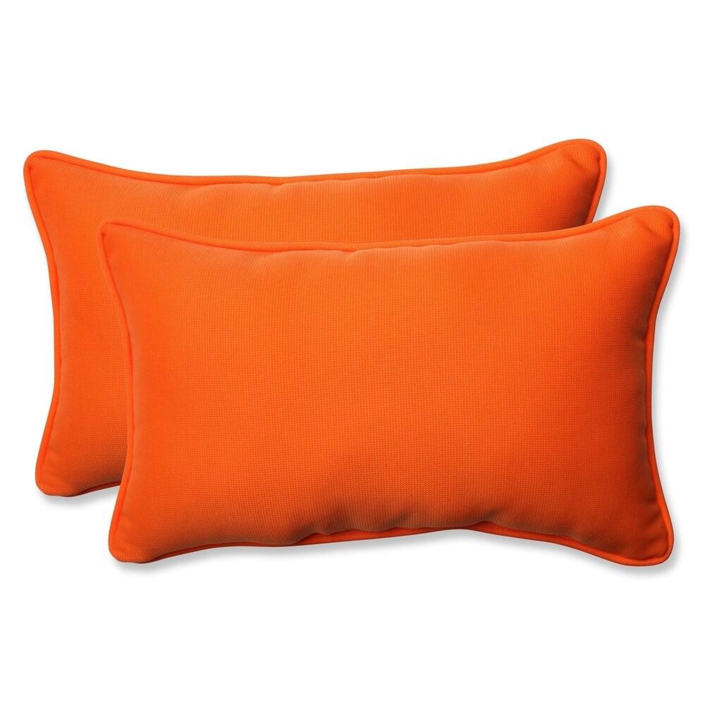 Pillow Perfect Orange Outdoor Throw Pillows (Set of 2) (Orange)
