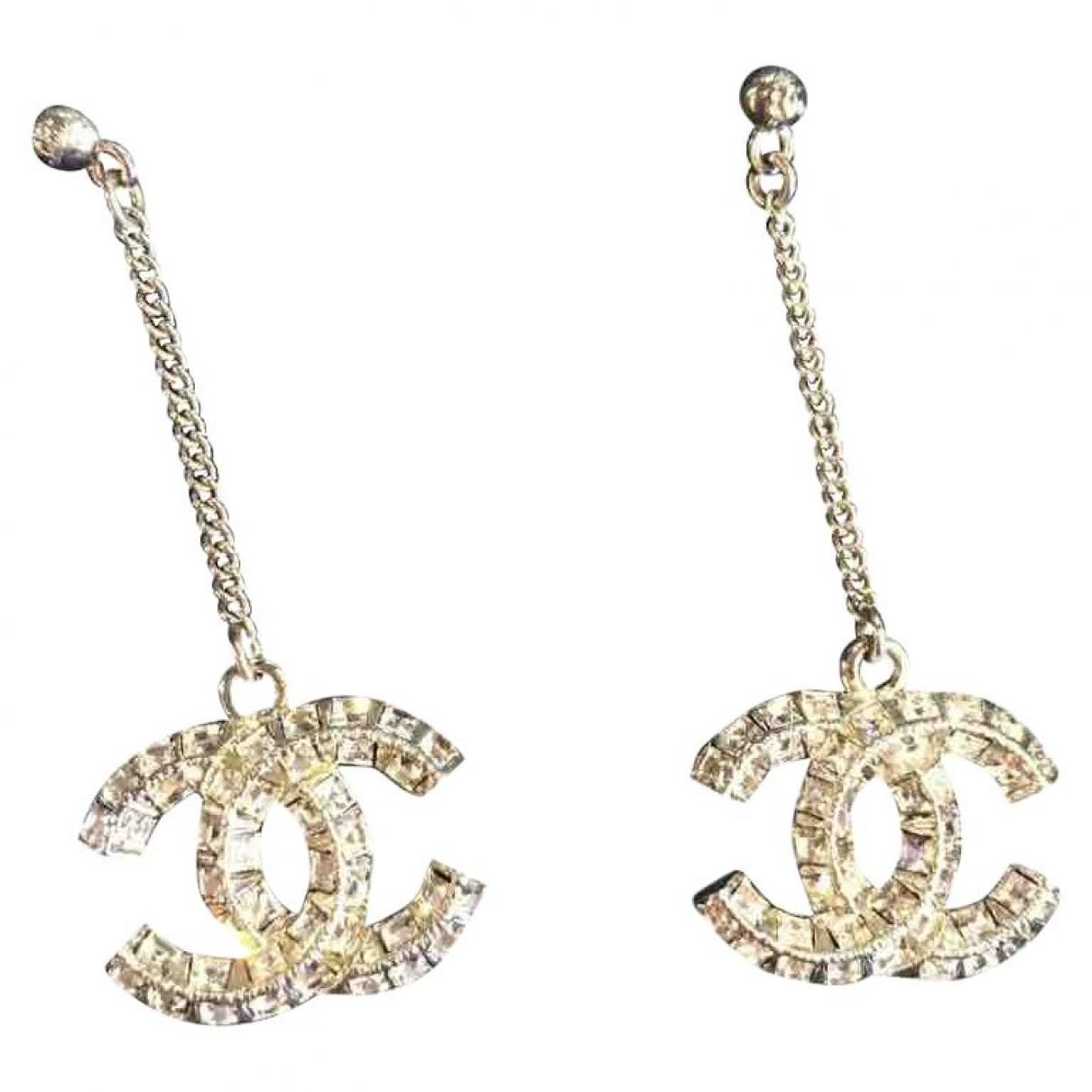 Chanel CC Metallic Metal Earrings for Women \N