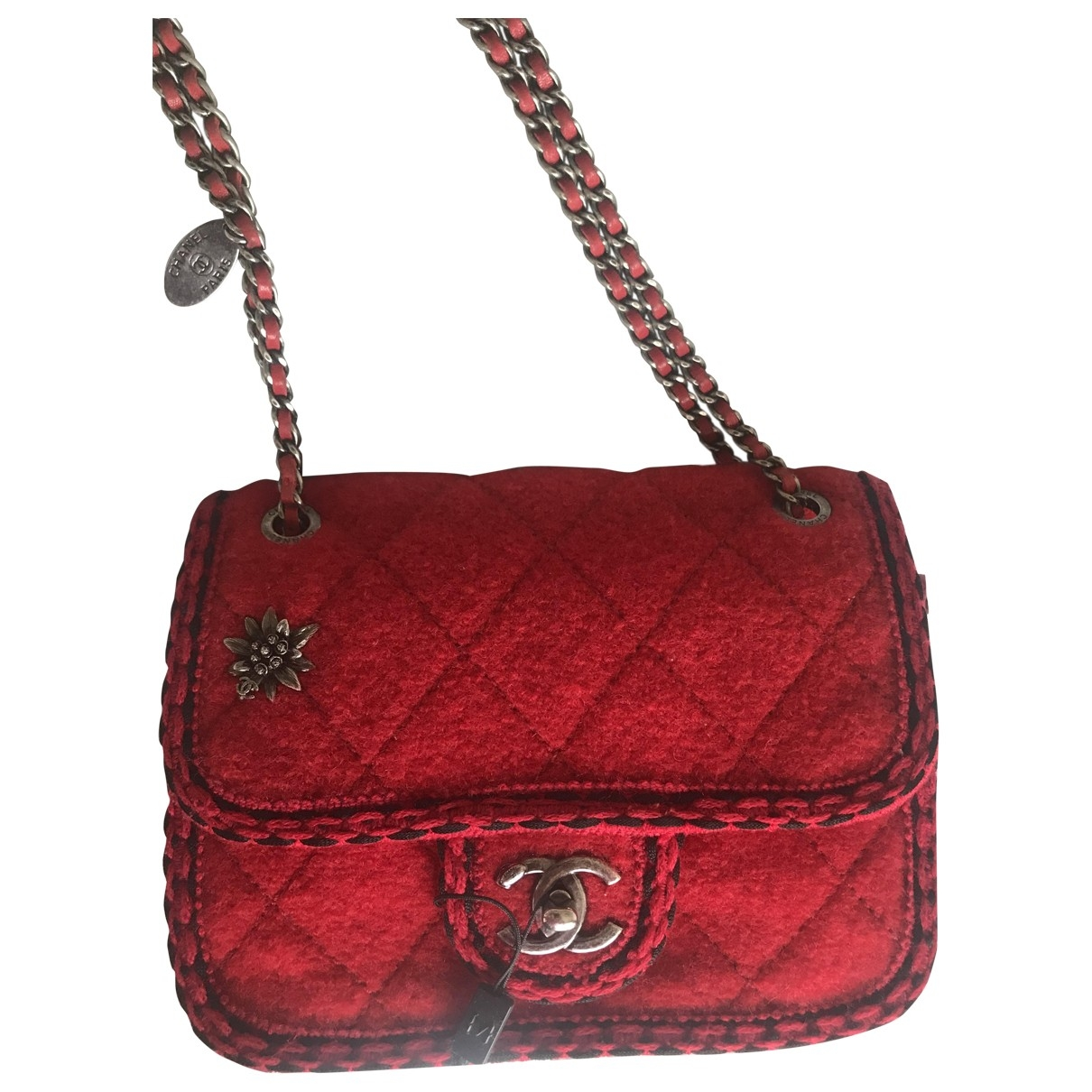 Chanel Timeless/Classique Red Wool handbag for Women \N