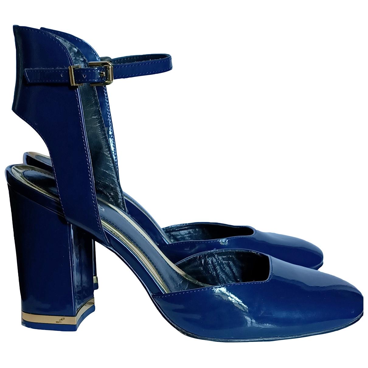 Max & Co - Escarpins   pour femme en cuir verni - bleu