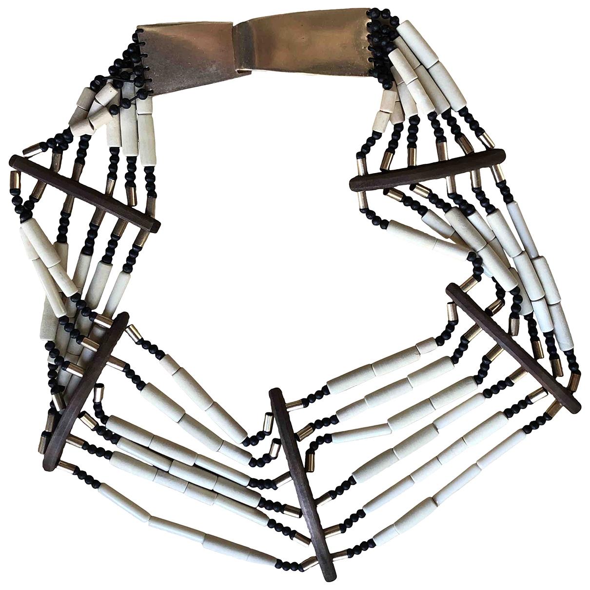 Uterque \N Beige Metal belt for Women 80 cm