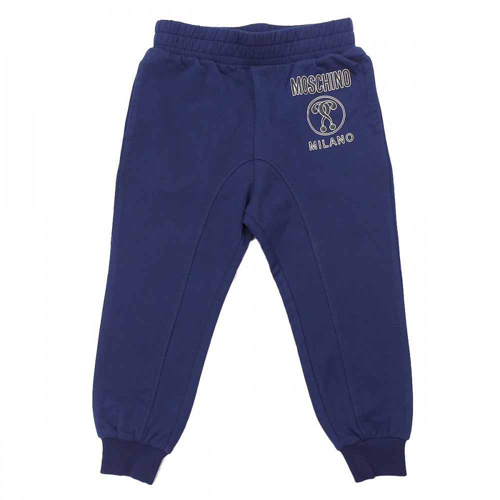 Moschino Joggers Colour: NAVY, Size: 10 YEARS