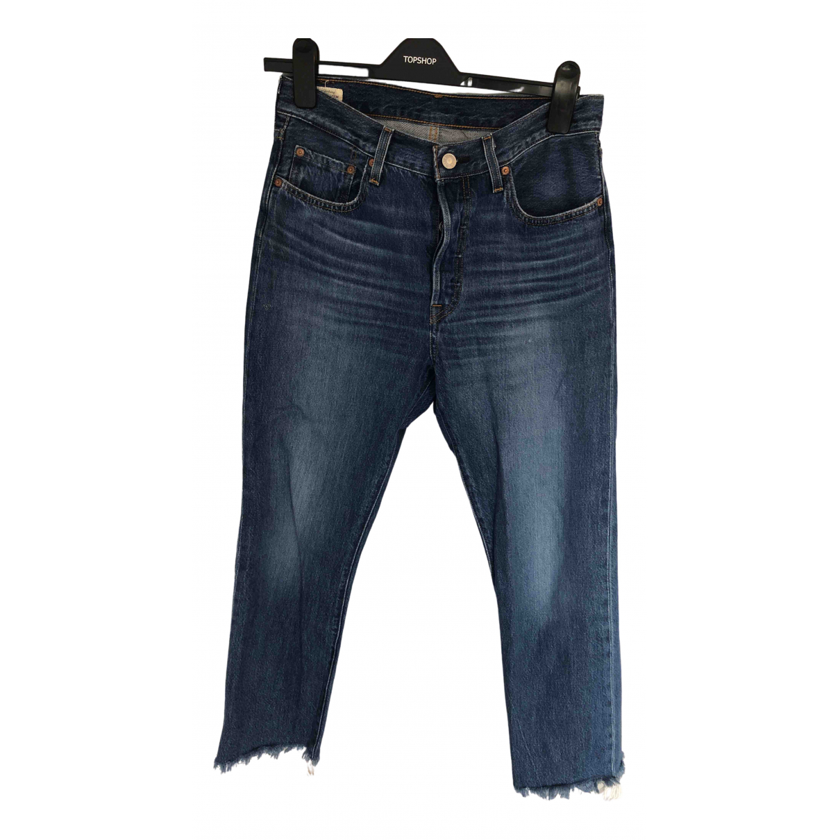 Levi's 501 Blue Cotton Jeans for Women 22 US