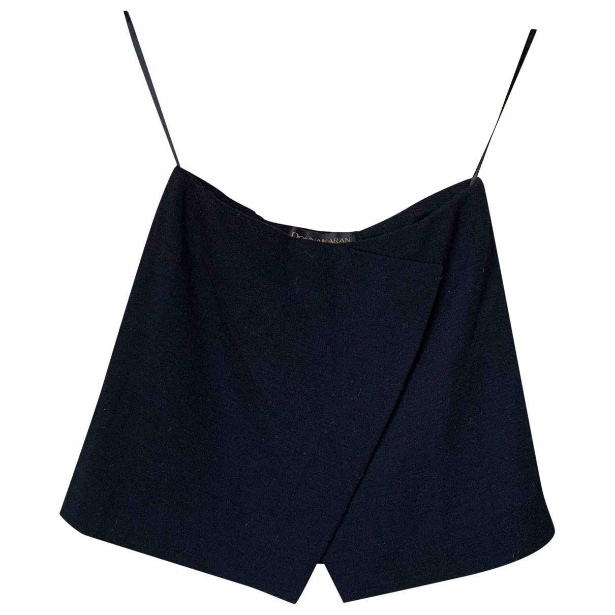 Donna Karan \N Top in  Blau Wolle