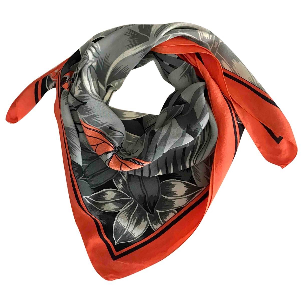 Dior \N Orange Silk Silk handkerchief for Women \N