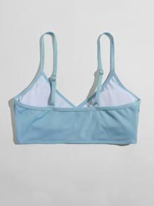 Ribbed Cami Bikini Top