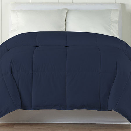 Casual Comfort Premium Ultra Soft Down Alternative Midweight Wrinkle Resistant Comforter, One Size , Blue