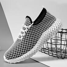 Zapatillas deportivas de hombres con malla con cordon