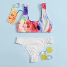 Bañador bikini de niñas de canale de tie dye