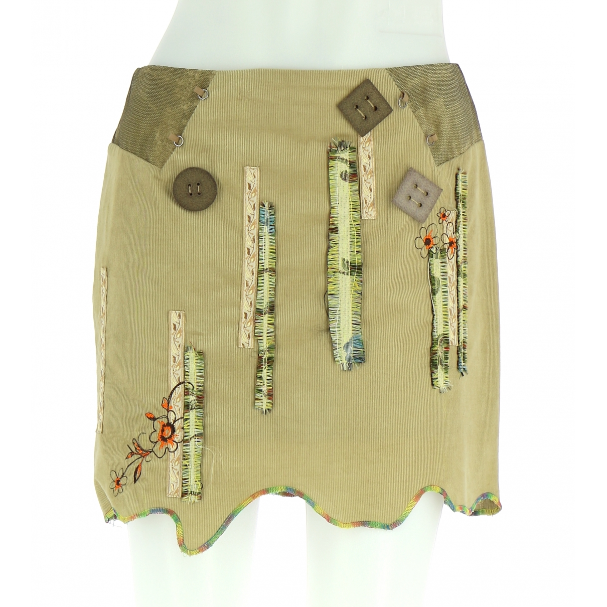 Non Signé / Unsigned \N Green Cotton skirt for Women 38 FR