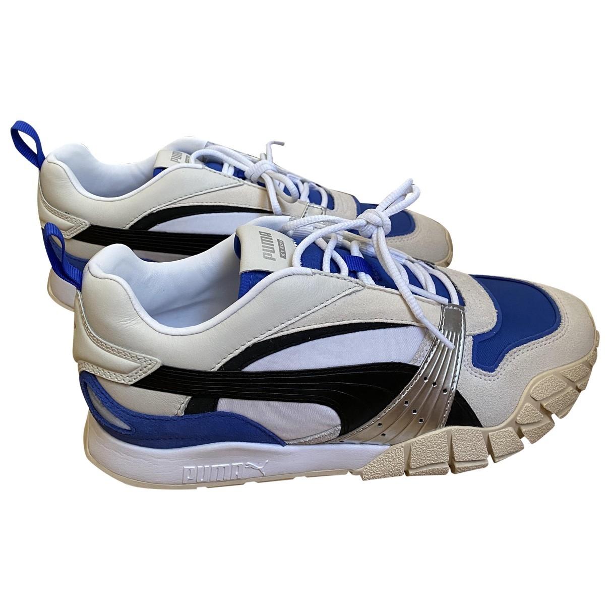 Puma \N Sneakers in  Weiss Leinen