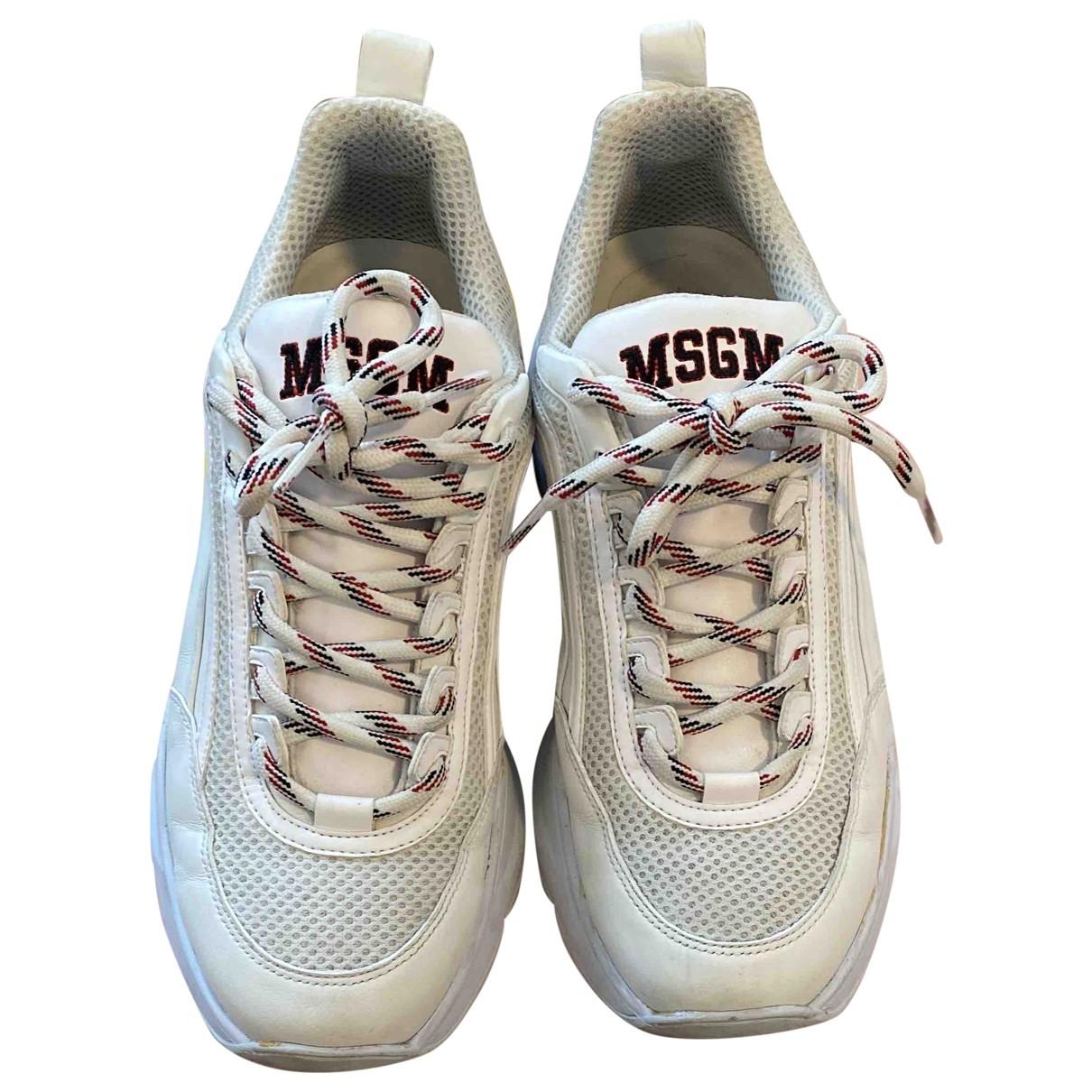 Msgm \N Sneakers in  Ecru Leder