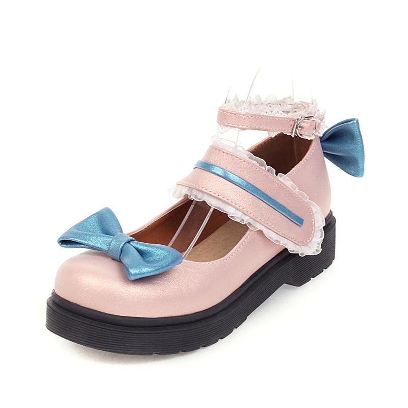 Ericdress Block Heel Line-Style Buckle Bow Casual Thin Shoes