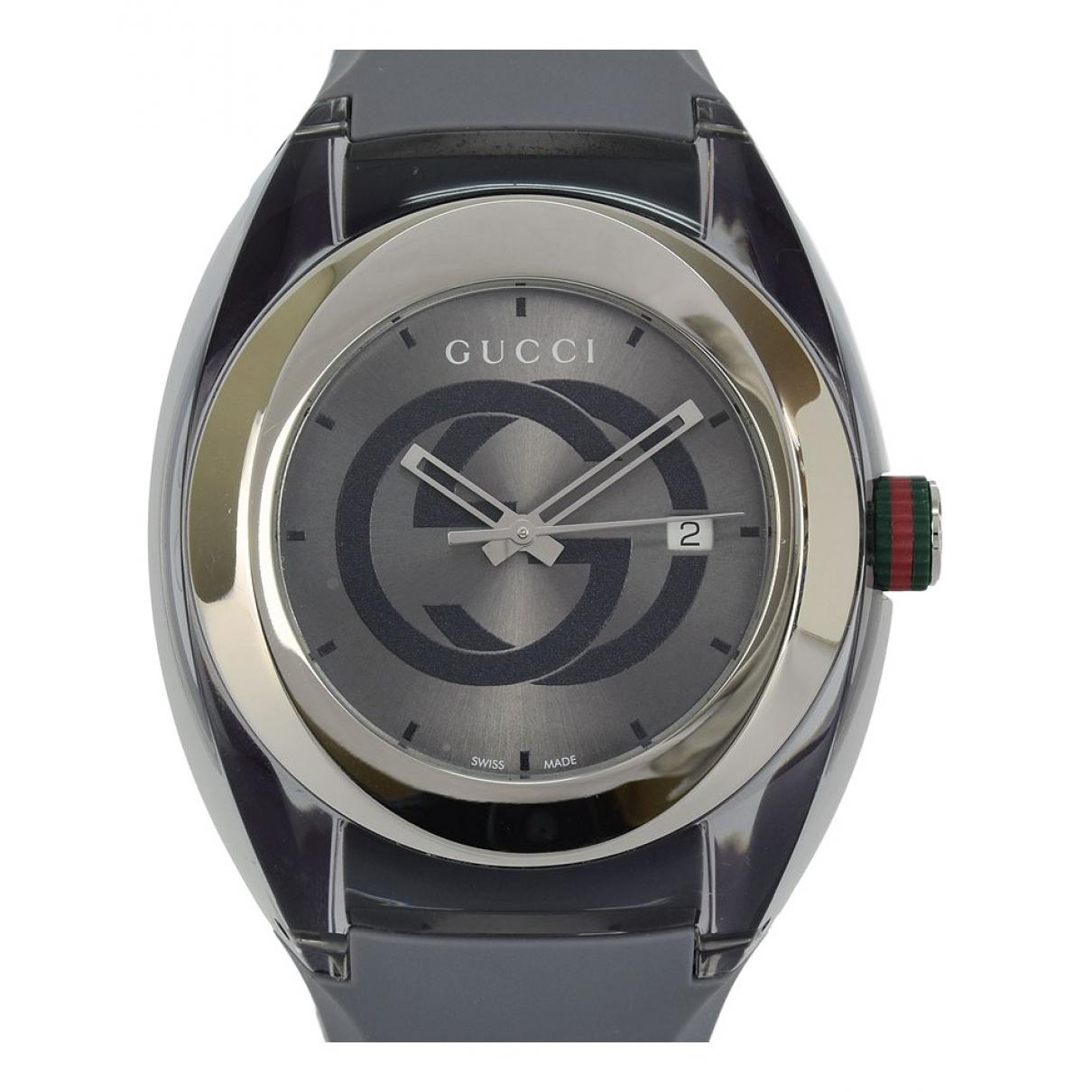 Gucci - Montre   pour homme en acier - gris