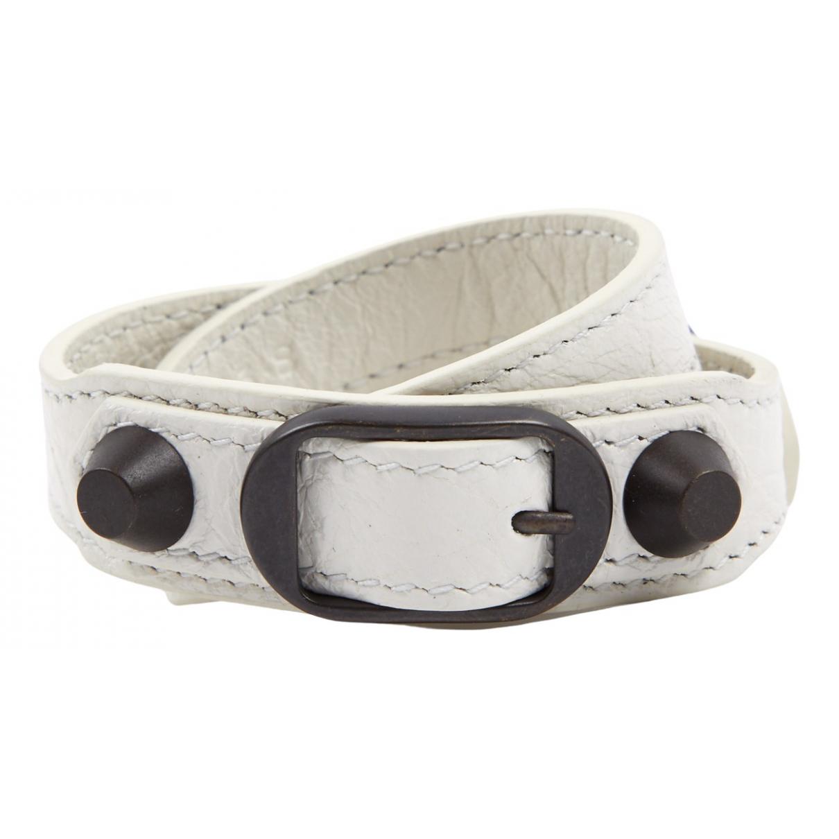 Balenciaga \N Armband in  Weiss Leder