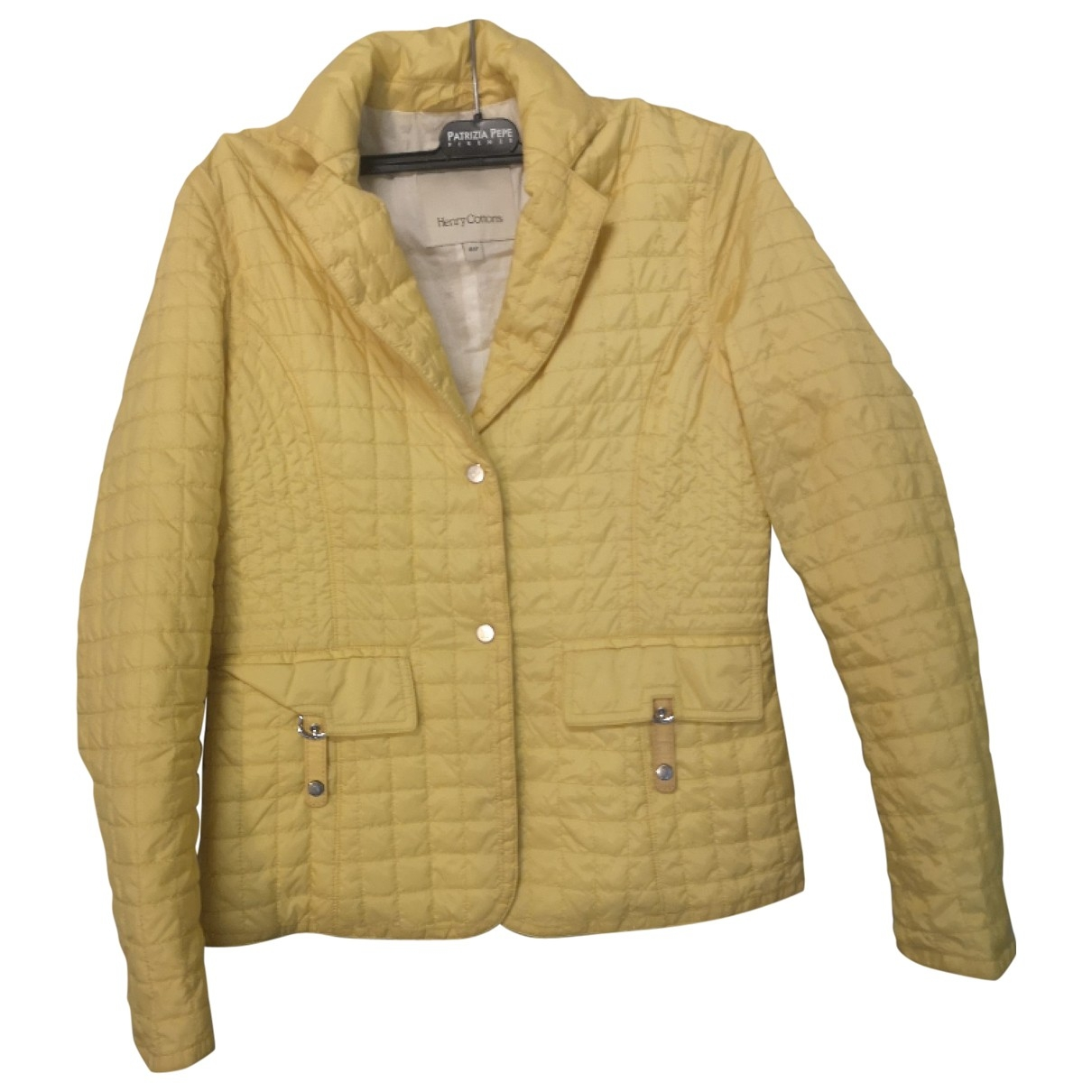 Henry Cotton \N Jacke in  Gelb Polyester