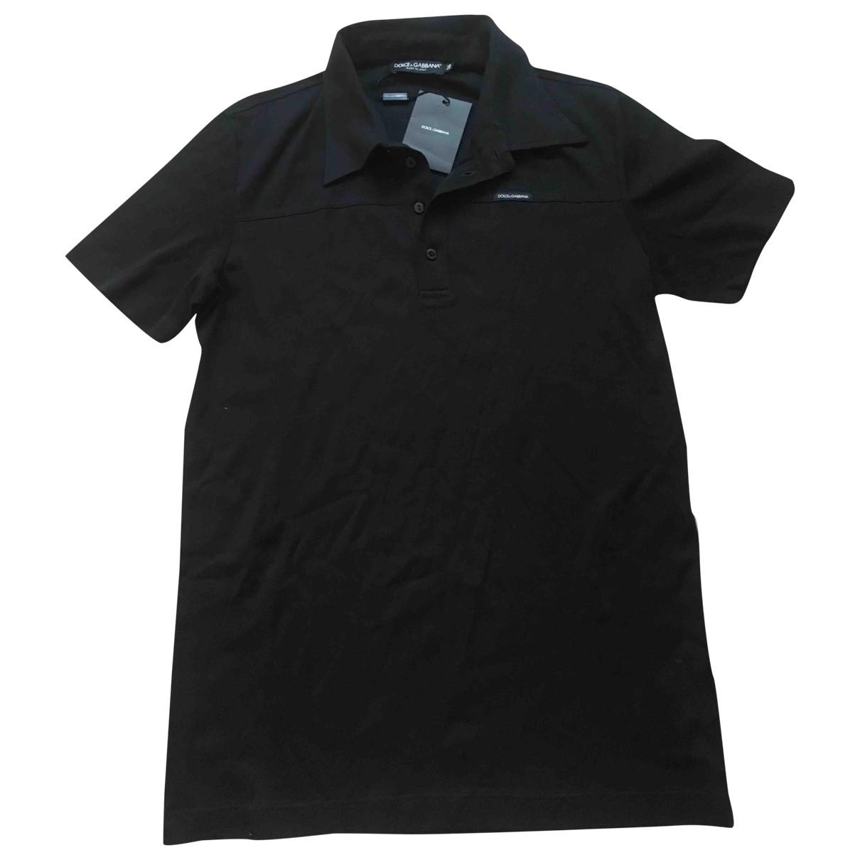 Polo en Algodon Negro Dolce & Gabbana
