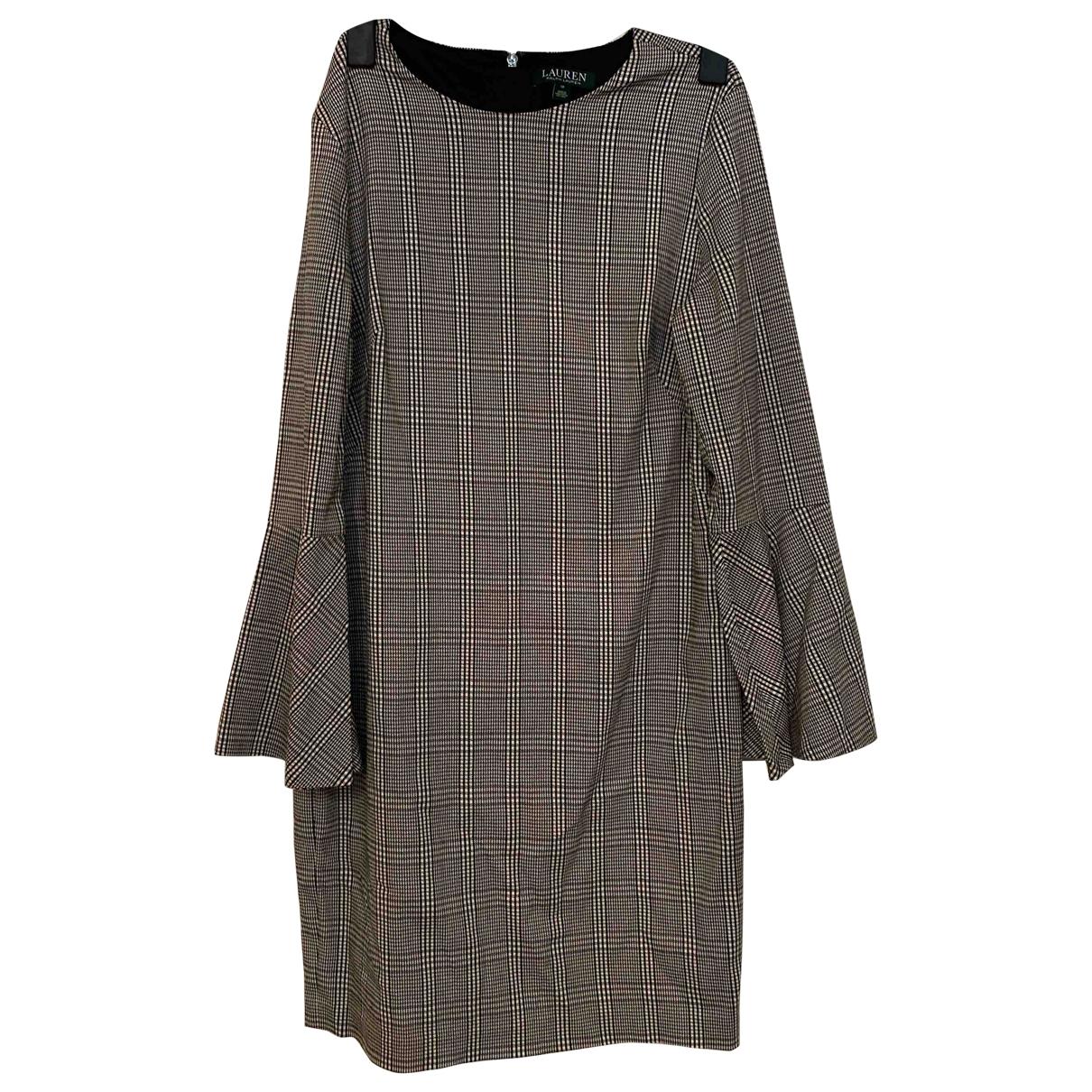 Lauren Ralph Lauren \N Kleid in  Grau Baumwolle - Elasthan