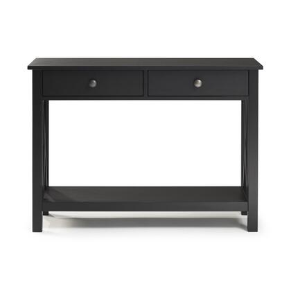 DV68BLK01U Dv68Blk01U Davis Console Table  With Black Finish  Versatile Design And Two Drawers Provide Ample Storage Space. In