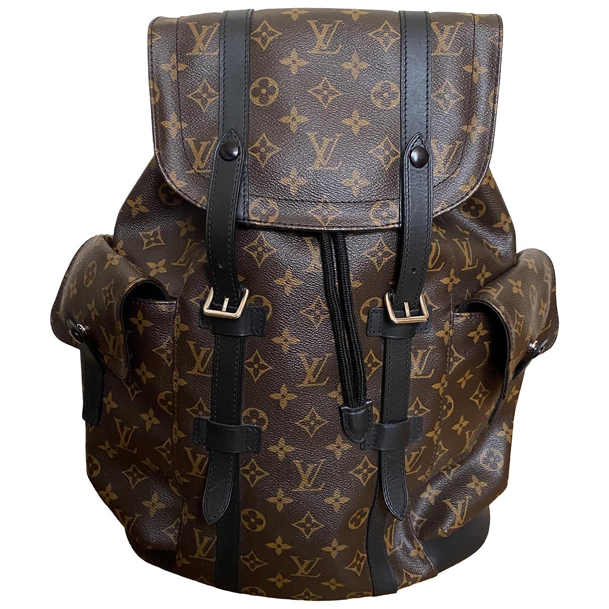 Louis Vuitton Christopher Backpack Cloth bag for Men N