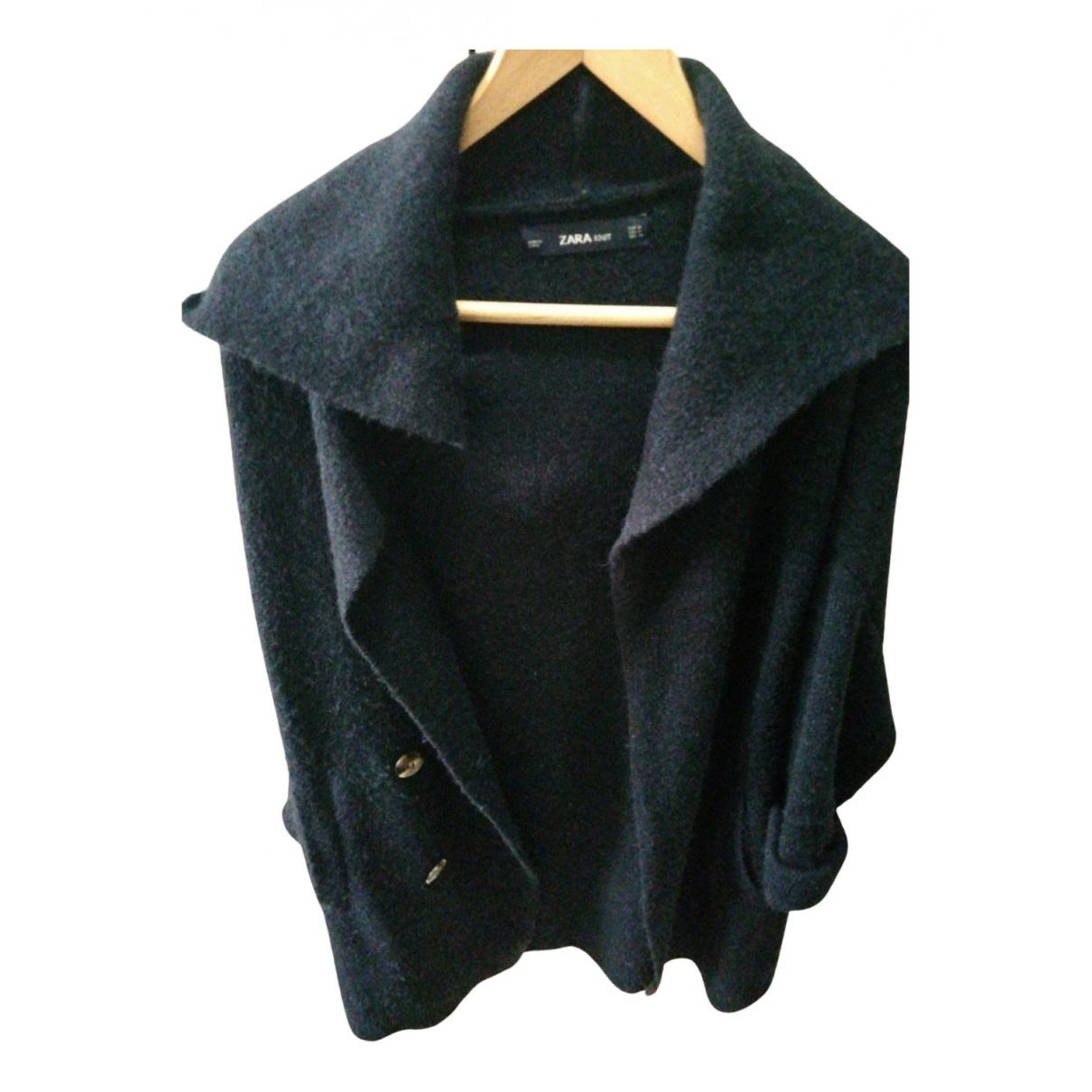 Zara - Manteau   pour femme en laine - bleu