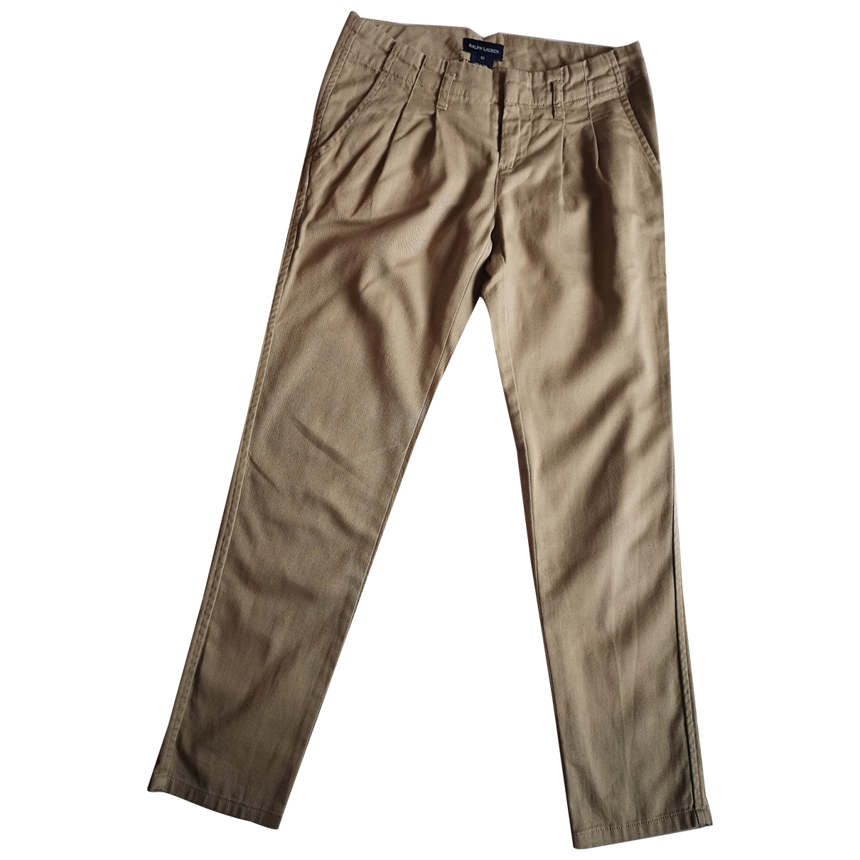 Ralph Lauren \N Beige Cotton Trousers for Kids 10 years - up to 142cm FR