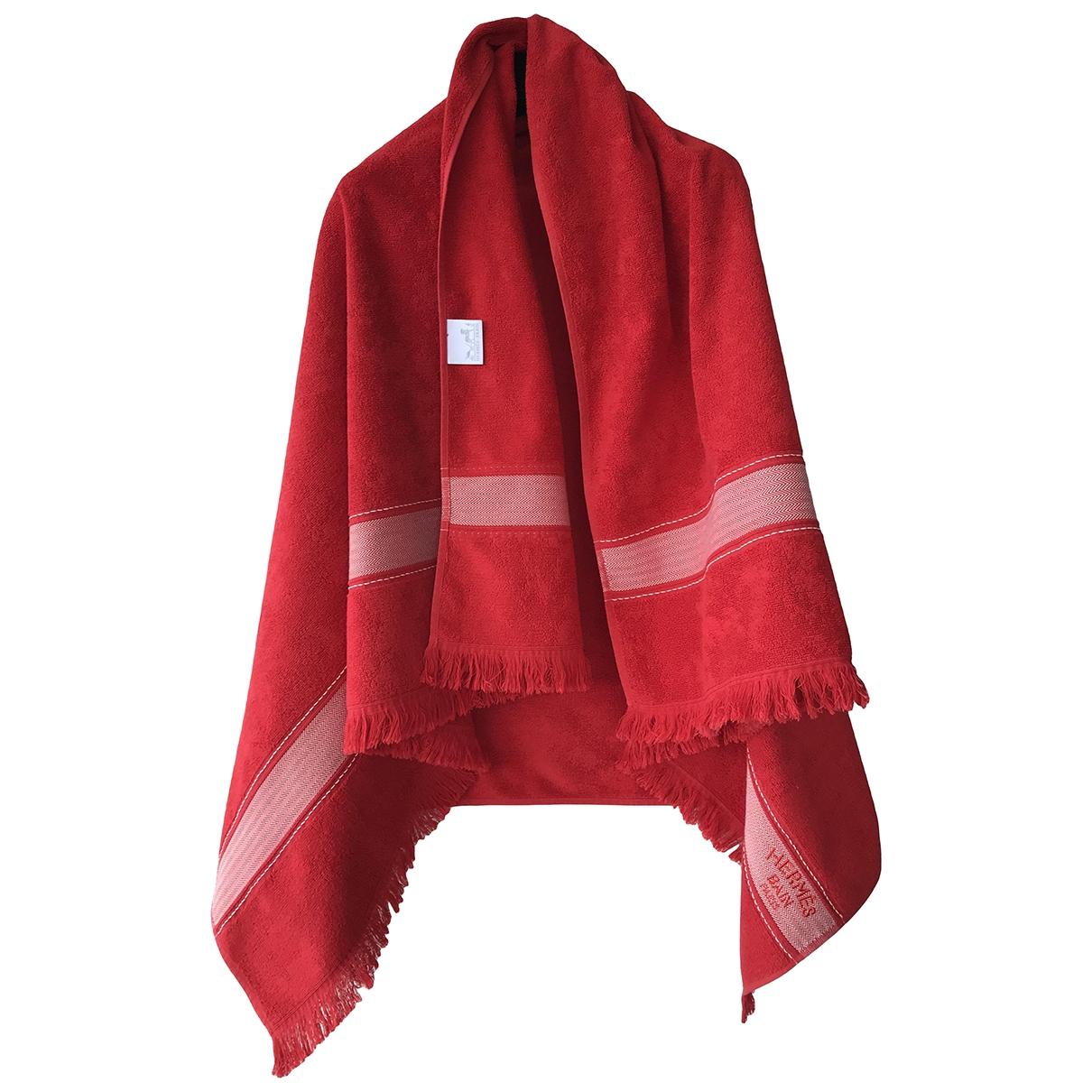 Hermes - Linge de maison   pour lifestyle en coton - rouge