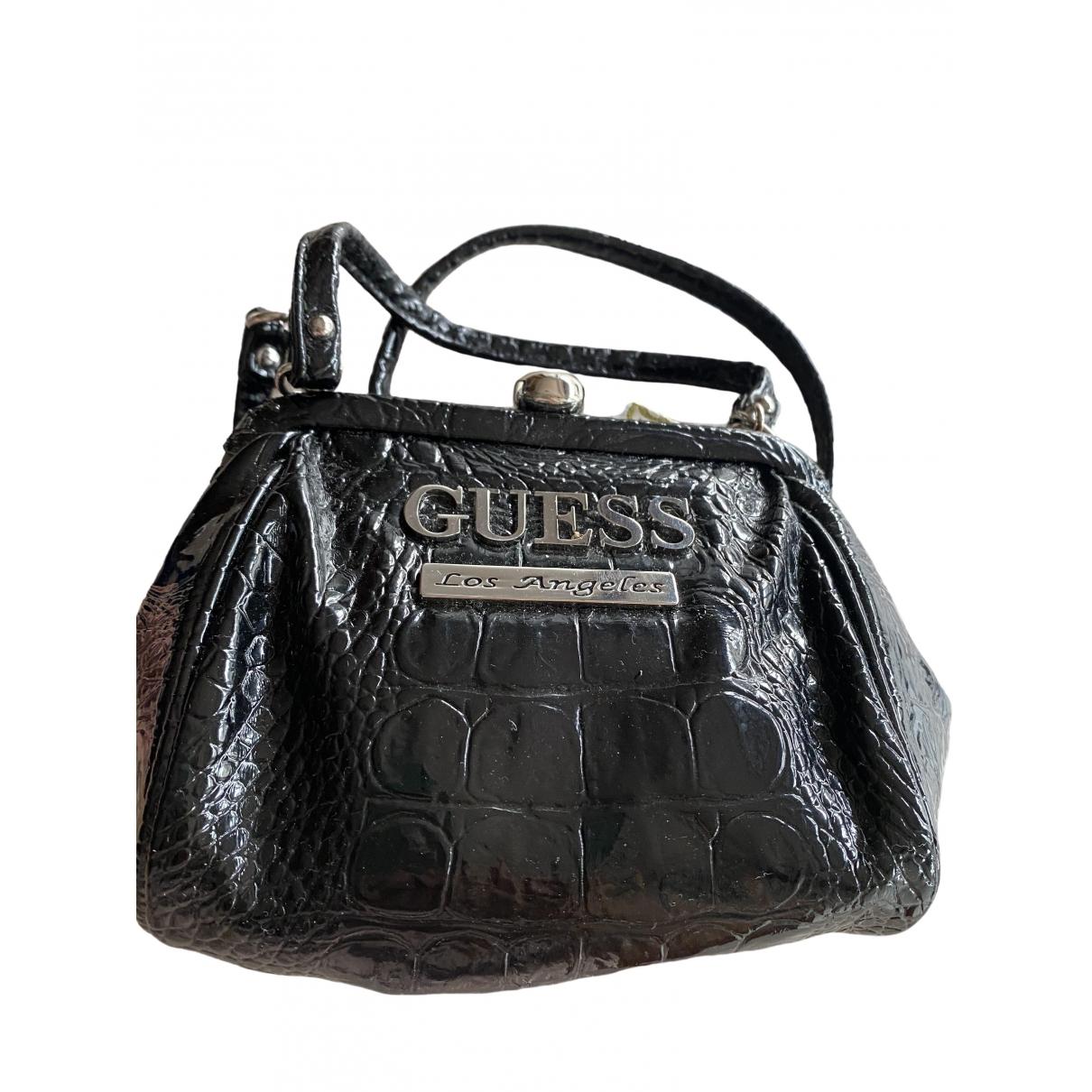 Guess \N Black Patent leather handbag for Women \N