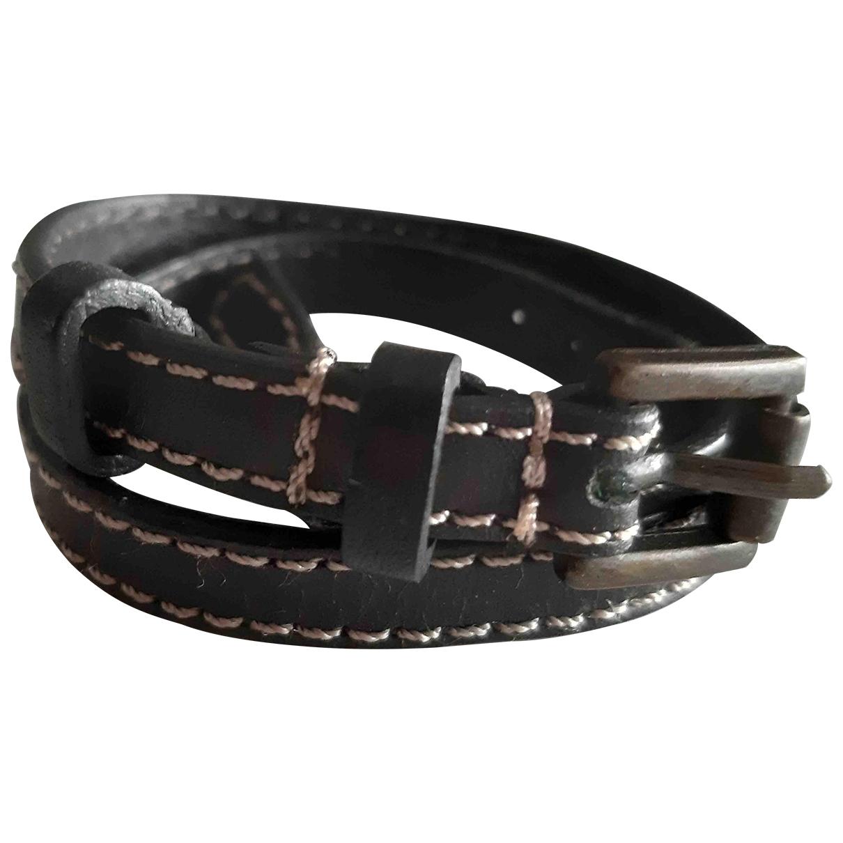Massimo Dutti - Bracelet   pour femme en cuir - marron