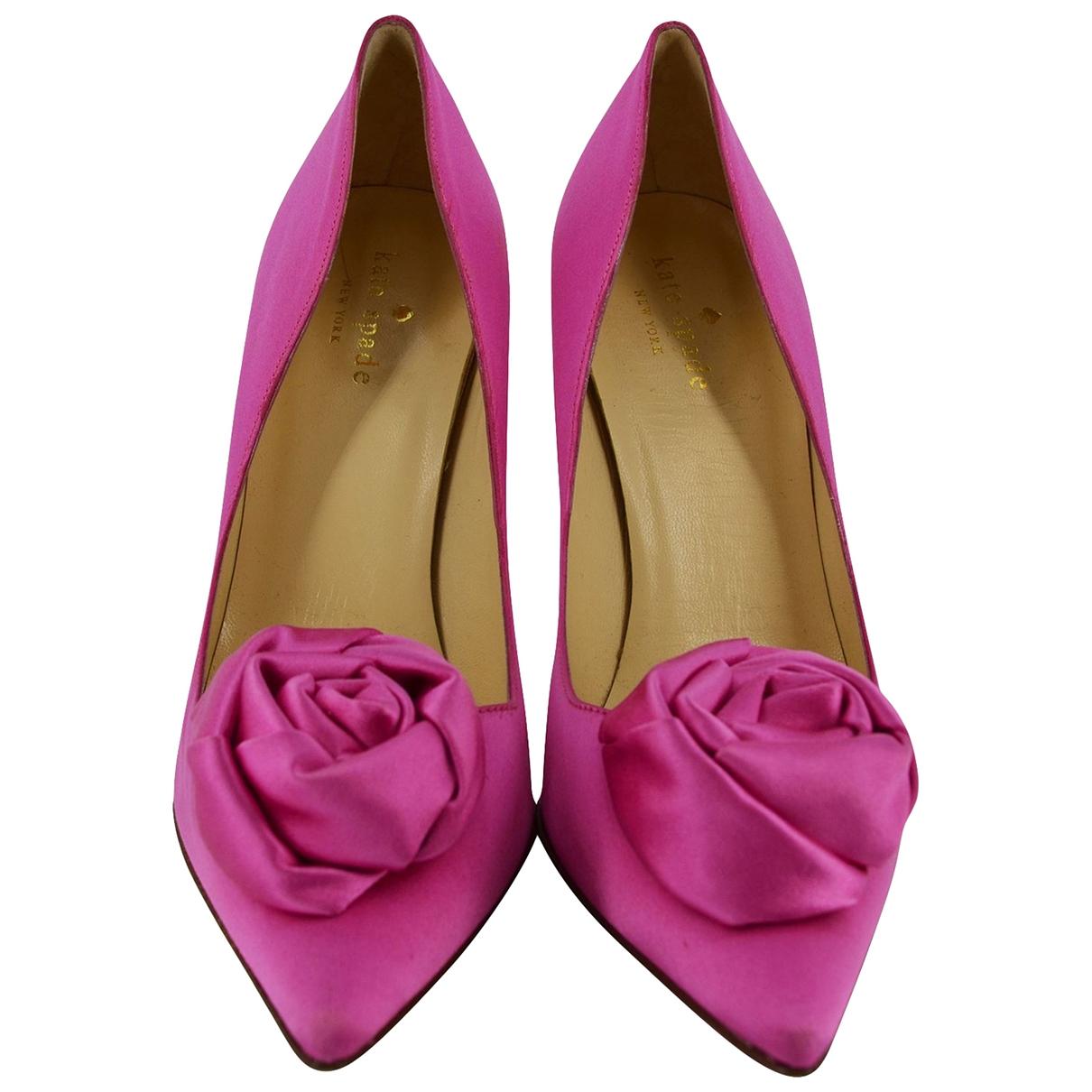 Kate Spade \N Pink Cloth Heels for Women 8 US