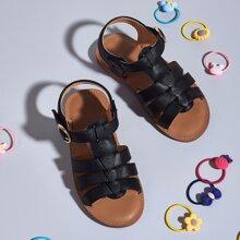 Toddler Girls Open Toe Buckle Sandals