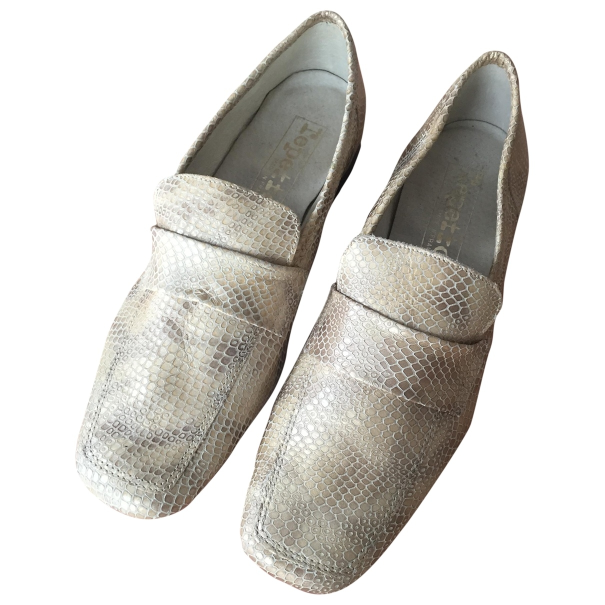 Repetto \N Gold Leather Flats for Women 36 EU