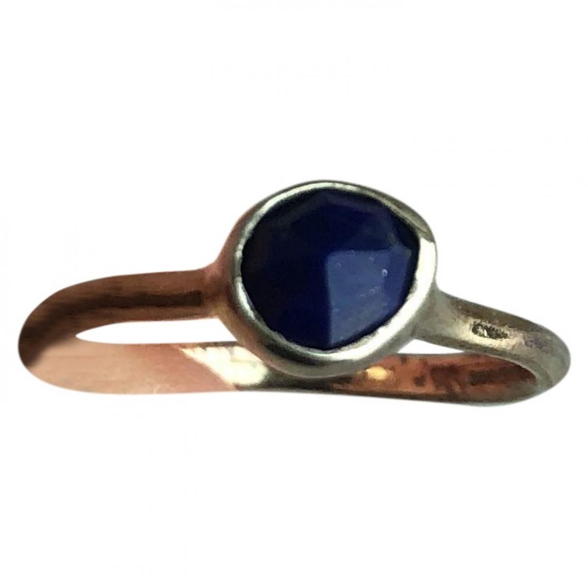 Monica Vinader \N Ring in  Blau Vergoldet