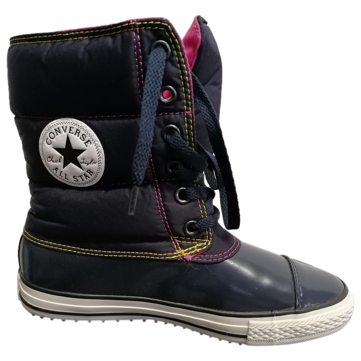 Converse - Boots   pour femme - bleu