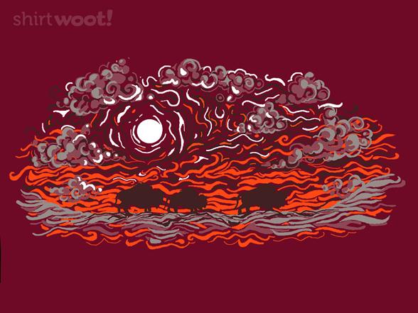 Buffalo Sunset Remix - Cranberry T Shirt