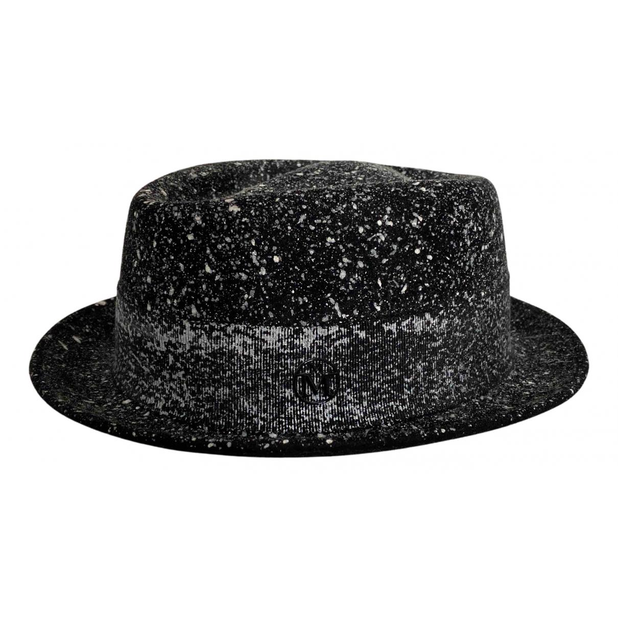 Maison Michel - Chapeau & Bonnets   pour homme en coton - noir