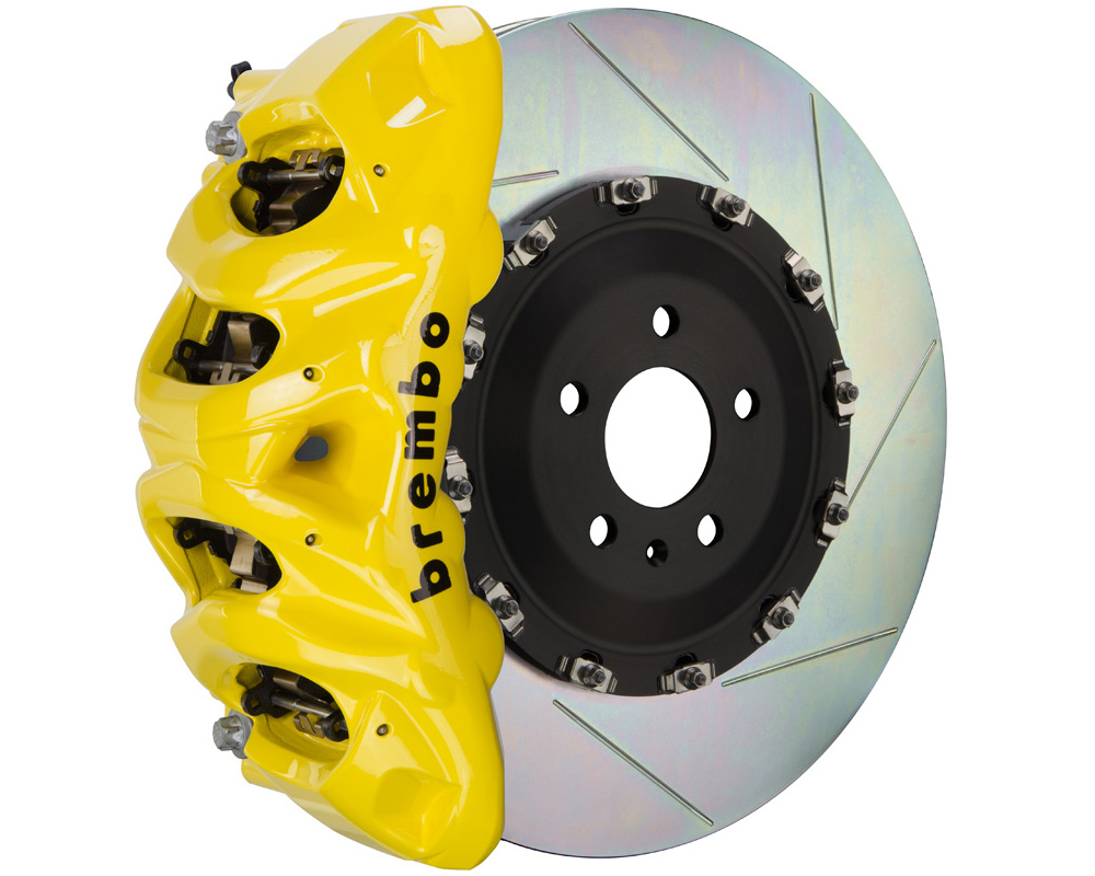 Brembo GT 412x38 2-Piece 8 Piston Yellow Slotted Front Big Brake Kit