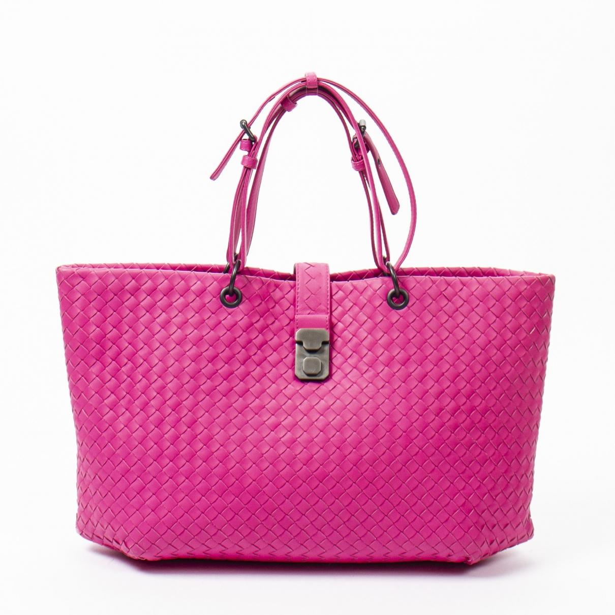 Bottega Veneta \N Handtasche in  Rosa Leder