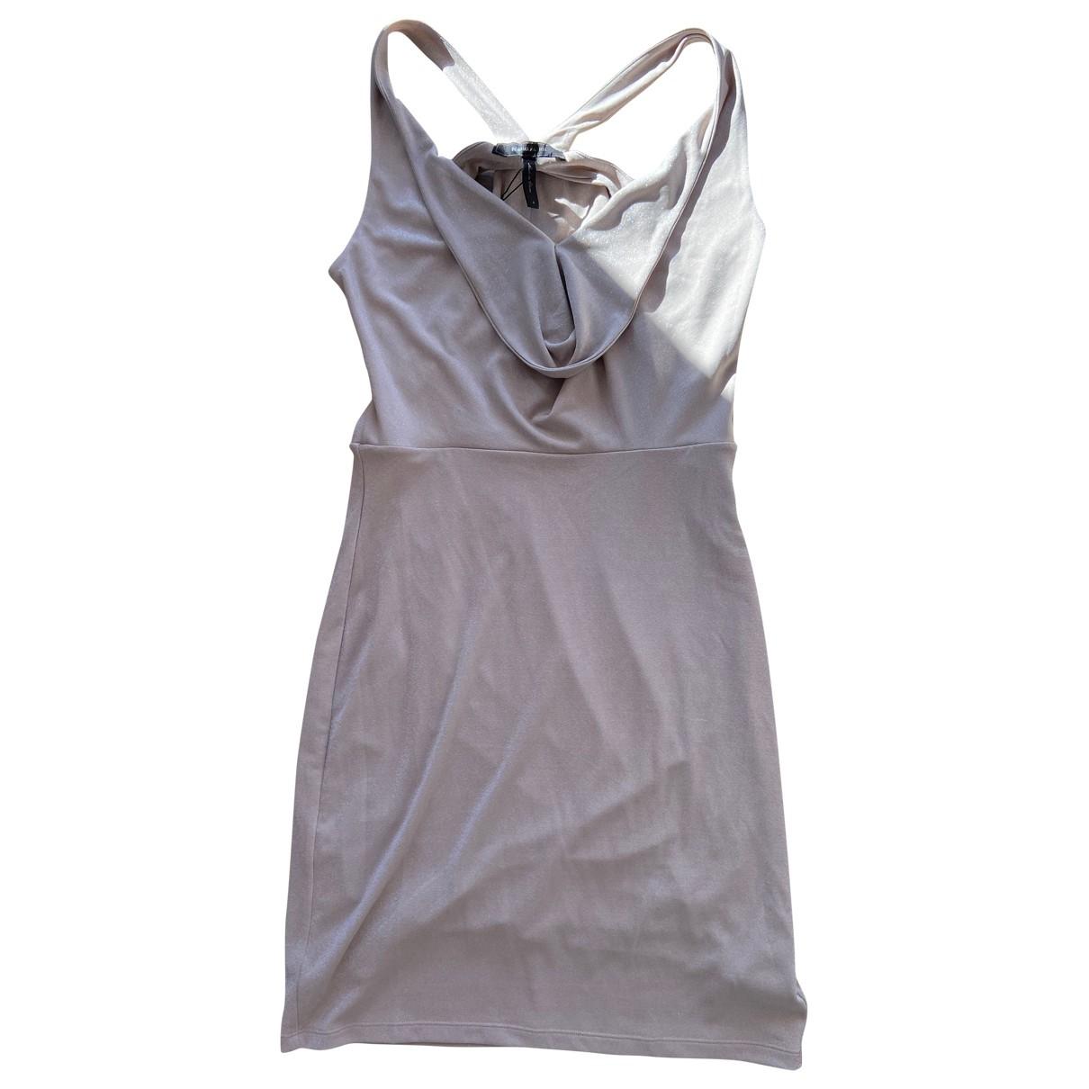 Bcbg Max Azria - Robe   pour femme en coton - elasthane - dore