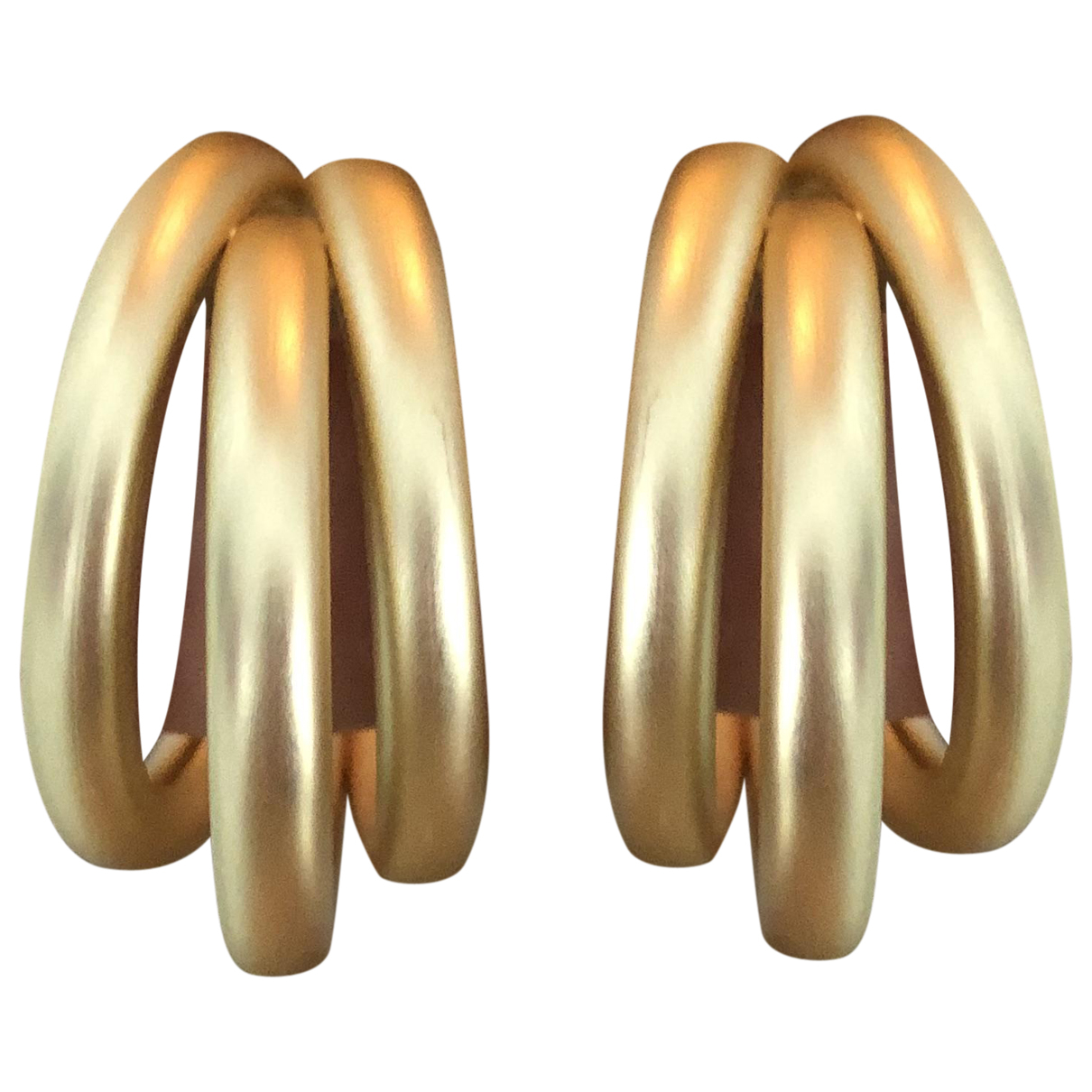 Non Signe / Unsigned Creoles OhrRing in  Gold Stahl