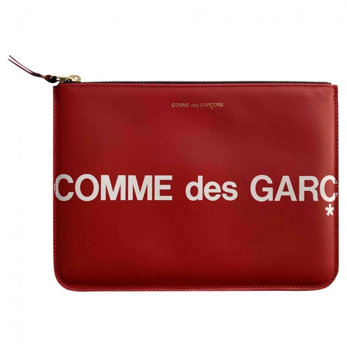 Comme Des Garcons - Petite maroquinerie   pour femme en cuir - rouge