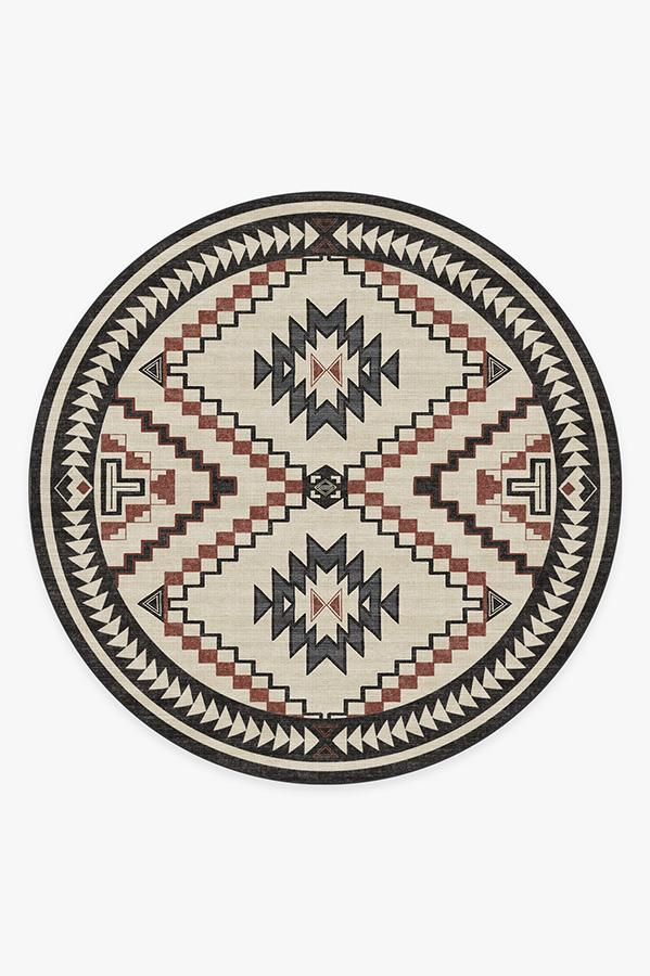 Washable Rug Cover & Pad | Dakotah Sumac Rug | Stain-Resistant | Ruggable | 8' Round