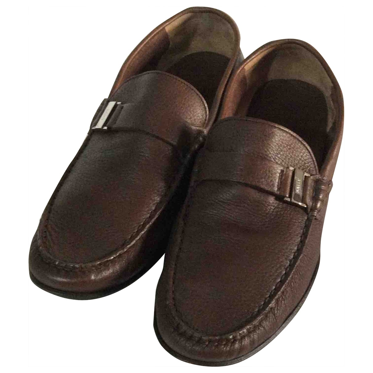 Bally \N Brown Leather Flats for Men 8.5 US